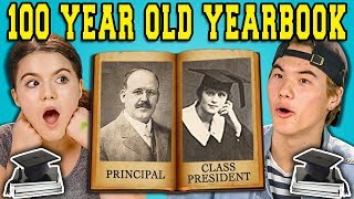 TEENS REACT TO A 100 YEAR OLD YEARBOOK?!