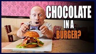 SECRET MENU EPIC CHOCOLATE BURGER (Delicious)