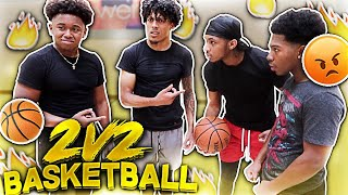 DDG & Deshae vs. SmoothGio & KingCid 2v2 Basketball (RAW & UNCUT)