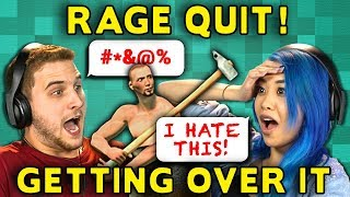 RAGE QUIT SIMULATOR!? | GETTING OVER IT (React: Gaming)