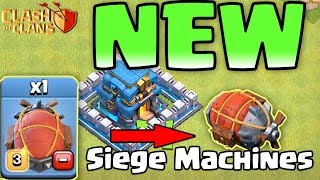 Siege Machines New Trop -  Clash Of Clans Town Hall 12 UPADATE Today