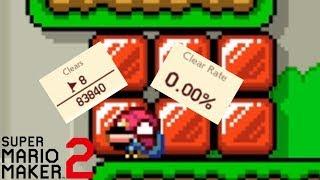 THIS 0.00% CLEAR RATE KAIZO LEVEL SHATTERED MY MENTAL! SUPER MARIO MAKER 2