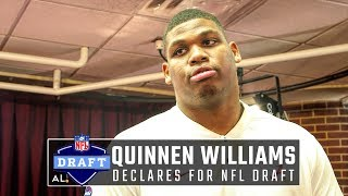 Quinnen Williams declares for 2019 NFL Draft, explains advantage of Tide program