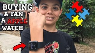 BUYING A FAN A $600 APPLE WATCH! *HE LOVED IT*