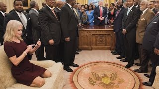 Photo Of Kellyanne Conway Sitting In Oval Office Reveals How Divided Country Is