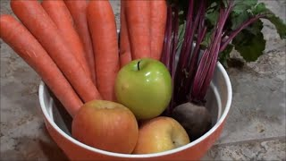 HOW TO LOWER BLOOD PRESSURE by JUICING APPLE, BEET and CARROT