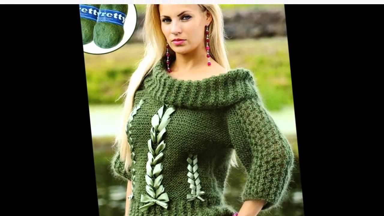 Модное вязание Нарядный женский вязаный пуловер - Bayan.Tv - Bayana dair. - Video Portal