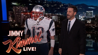 Super Bowl MVP Tom Brady Makes Surprise Appearance on Kimmel
