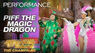 Piff The Magic Dragon: Hilarious Magician Shocks Heidi Klum - America