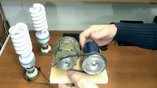 Small alternator 220V and 220V electronic inverter