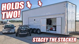 """We Bought a Used 2-Car STACKER Trailer! Introducing """"Stacey the Stacker"""" (SHE"""