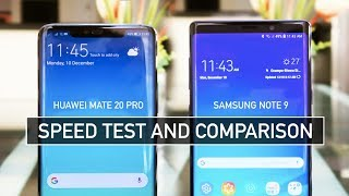 Huawei Mate 20 Pro vs Samsung Note 9 SPEED TEST | Zeibiz