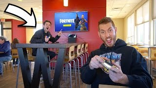 PLAYING FORTNITE IN STORES!