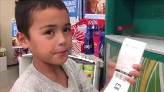 Our Little Boy Daniel Visits The Coinstar Machine How Much Will He Have