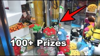 MOST PRIZES EVER WON FROM A CLAW MACHINE! (FILLED THE CHUTE!)   JOYSTICK
