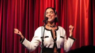 "Dua Lipa live in LA performing ""IDGAF"" acoustic 9-28-18"