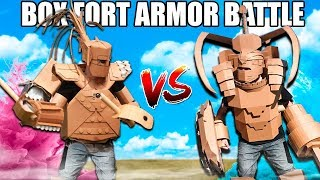 BOX FORT ARMOR BATTLE!! 📦💥 Vs Paintball, Nerf & More!