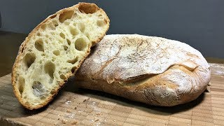 How to Make No Knead Ciabatta_77%hydration_10%olive oil_Lodge_Dutch Oven Bread_home baking