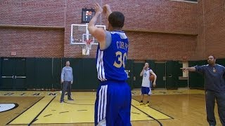Shooting Contest: Curry vs. Coach Jackson
