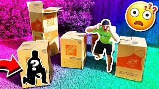MYSTERY BOX FORT HIDE & SEEK CHALLENGE!