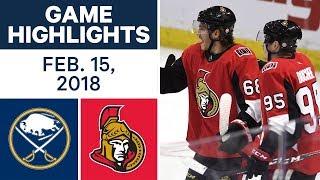 NHL Game Highlights | Sabres vs. Senators - Feb. 15, 2018