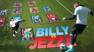 BILLY VS JEZZA INSANE GIANT CARD MATCH ATTAX SPECIAL!