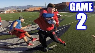 KNOCKING PEOPLE OUT OF THE GAME!   Sunday Morning Football   Game 2