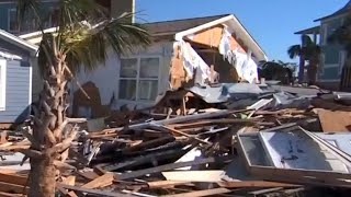 President, first lady visit areas impacted by Hurricane Michael