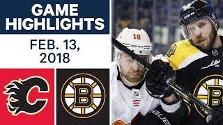 NHL Game Highlights | Flames vs. Bruins - Feb. 13, 2018