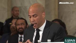Cory Booker Takes on Jeff Sessions