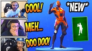 "STREAMERS REACT TO *NEW* ""FINGER WAG"" EMOTE/DANCE! Fortnite SAVAGE & FUNNY Moments"