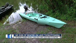 Search underway for possible missing boater in Thonotosassa
