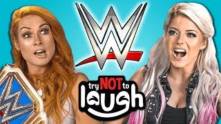 WWE Superstars React To Try To Watch This Without Laughing Or Grinning