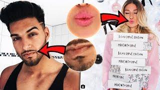 YouTuber an ihren Nipp. . ÄH LIPPEN erraten!