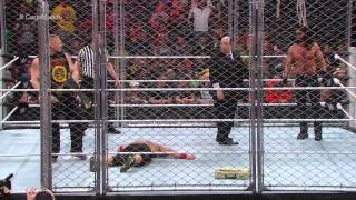 Brock Lesnar Interrupts Steel Cage Match Between John Cena & Seth Rollins 12/15/14