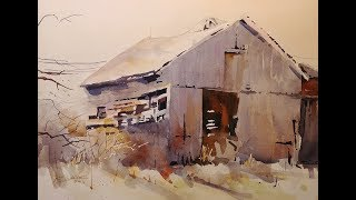 "Transparent Watercolor Demonstration, ""Still Standing"""