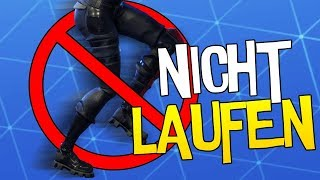 NICHT LAUFEN CHALLENGE | Fortnite Battle Royale