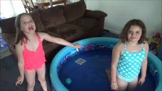 """2 Swimming Pools In Our House! """"Victoria & Annabelle Toy Freaks"""""""