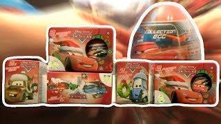 Cars 10 PIXAR Disney Kinder Surprise Eggs Lightning McQueen