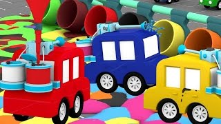 Lehrreicher Zeichentrickfilm - Die 4 kleinen Autos - Wir spielen Paintball