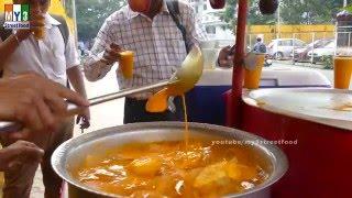 Apple Slice  With Mango Juice - MUMBAI STREET FOOD - 4K VIDEO - UHD VIDEO
