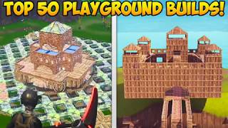 *NEW* PLAYGROUND MODE TOP 50 BEST BUILDS! - Fortnite Funny Fails and WTF Moments! #245