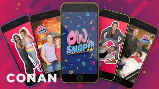 "Get Painfully Close To Celebrities With The ""Ow, Snap"" App  - CONAN on TBS"