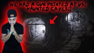WE HAD A GUN POINTED AT US CAUGHT ON CAMERA // 24 HOUR OVERNIGHT CHALLENGE IN A HAUNTED CAVE!