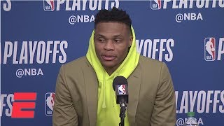 [FULL] Russell Westbrook on Ricky Rubio: 'I'm going to shut that s--- off next game' | NBA on ESPN