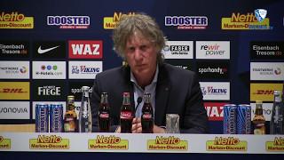 Die Pressekonferenz nach der Partie VfL Bochum 1848 - DSC Arminia Bielefeld