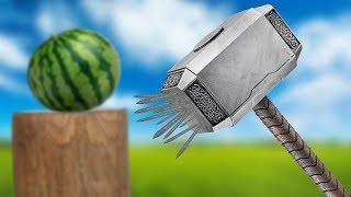 Experiment - Was kann Thors Hammer wirklich - Fruit Ninja in Real Life