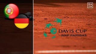 Cedrik-Marcel Stebe überrascht   Portugal - Deutschland   Highlights   Davis Cup Tag 1   DAZN