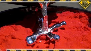 Casting Metal in Kinetic Sand (Oddly Satisfying?)