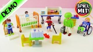 Playmobil Kinderstation Deutsch Demo - Mit Babybettchen - Playmobil Kinderklinik - Spiel mit mir